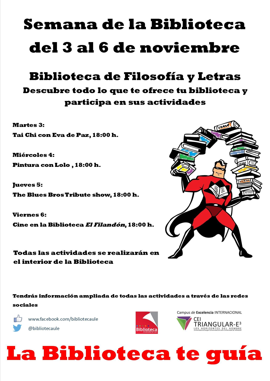 cartel semana biblioteca