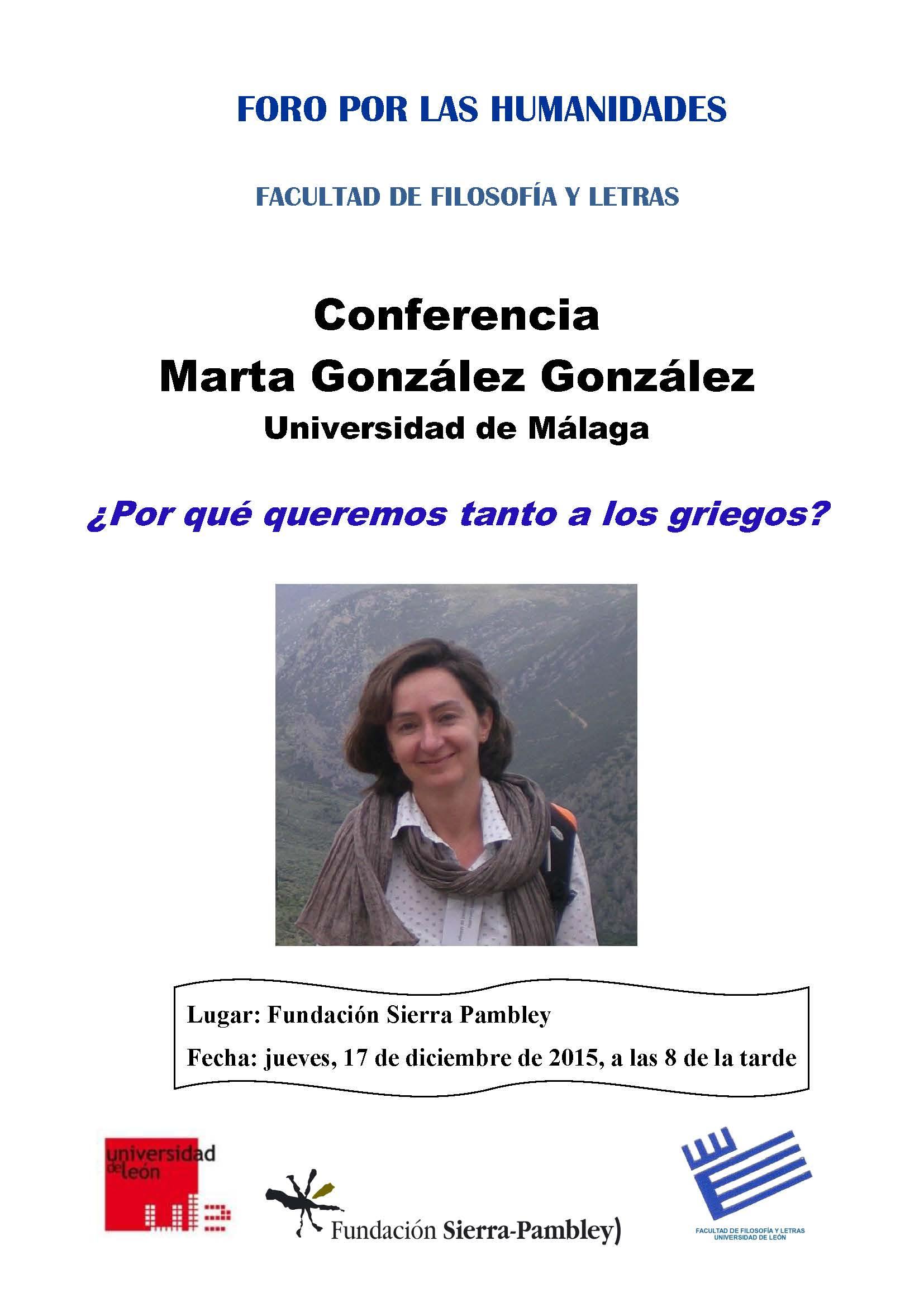 Cartel Marta González