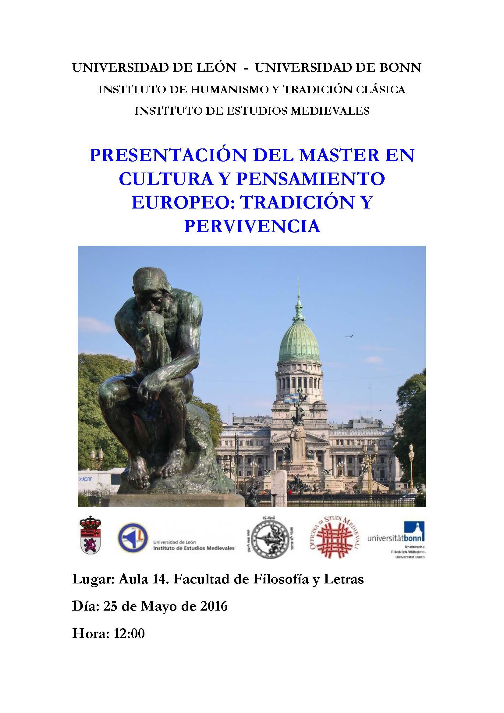 Presentacion Master Cultura y Pensamiento